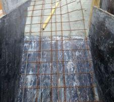 9e jour : Escalier en cours - ferraillage