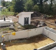 Installation des murs