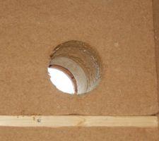 Perçage du mur scie cloche 190 pour conduit isolée EPE de 160 (diam intérieur)