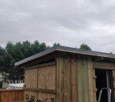 Le toit est terminé