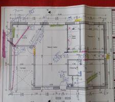 Voici le plans de ma maison avec toutes les dernières modifications durant la mise au point àvec mon Maître d oeuvres.