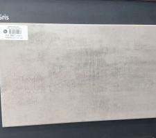 Faïence Arte One Infinity gris mat 25 x 40 cm Salle de bain suite parentale.