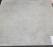 Carrelage grès cérame Arte One Béton évolution gris moyen 60 x 60 cm Salle de vie, cellier et WC rdc