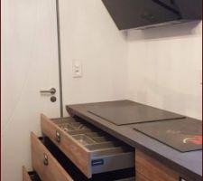 Tiroirs  de 120 sous induction range couvert  et 2 casseroliers
