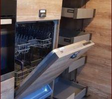 Tiroir sous lave vaisselle et range verres