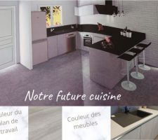 Plan de notre future cuisine