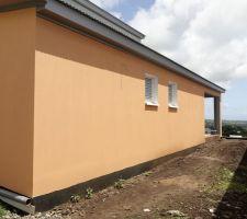 Mur coté Est orange