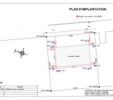 Plan d'implantation sur le terrain