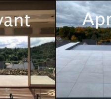 Terrasse avant/après