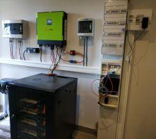 Vue de l'installation électrique