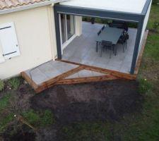 Terrasse avec dalles sur plots...