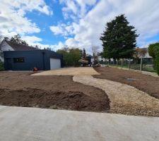 Terrain nettoyé et prêt à être semé.