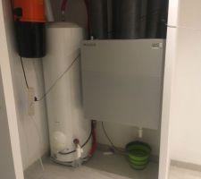 La VMC DF est en route, il ne restera plus que le collecteur de condensats à poser