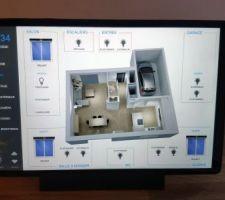 Projet en cours, tablette pour gérer la domotique de la maison