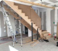 Escalier posé!
