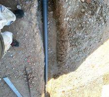 Raccordement des gouttières au puits perdu
