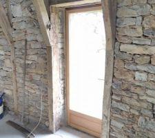 Portes fenêtres bois grange 205x80