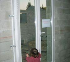 Porte fenêtre de l'inérieur
