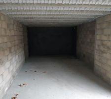 Le sous-sol vu de l'entrée du garage