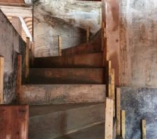 Escalier béton du RDC