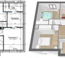Plans Etage avec vue 3D