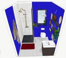 Salle d'eau du rdc Test Bleu Kein