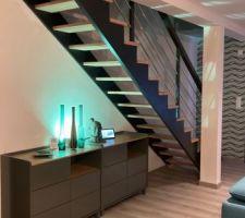Escalier et la commode
