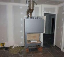 La cheminée en place