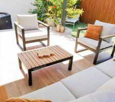 Nouveauté salon de jardin, spa et pergola bioclimatique en alu.