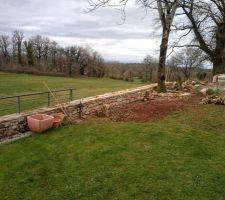 Muret jardin en cours