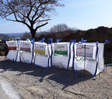 Installation de sac pour la collecte ET le recyclage des déchets du chantier