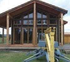 Auto construction de maison en bois (kit) avec nacelle