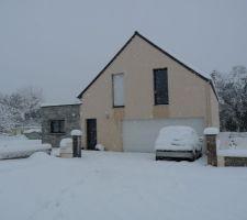 Sous la neige début décembre