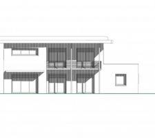 Plan facade sud