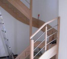 installation de l escalier