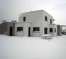 tempete de neige 40 cm de neige sur mes toits
