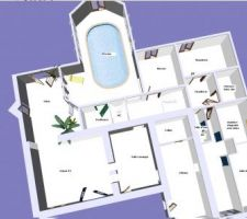 Premier jet du plan RDC sur architecte 3D