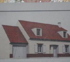 Photo de la maison quand elle sera fini