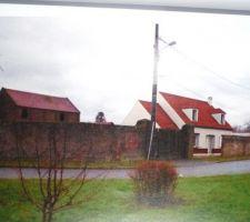 Vu de la maison qui sera implante sur le terrain