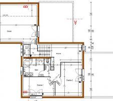 Le grenier est un demi niveau au dessus de l'étage des chambres