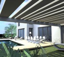 Apres reduction SHON: vue abris terrasse