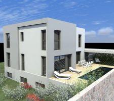 Apres reduction SHON: vue facade Ouest