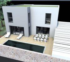 Apres reduction SHON: facade Sud