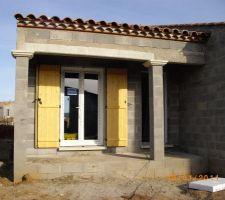 Facade sud (entrée maison)