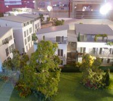 Maquette des appartements