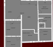 Plan de l'étage sans meubles.