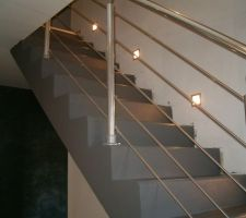 escalier beton et rambarde alu
