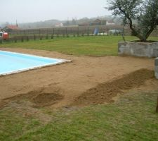 Le sable est damé, provisoirement, mais il en manque !