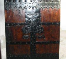 Porte tibetaine du 19 eme siecle