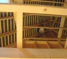 Le conduit de cheminée vu de l'intérieur